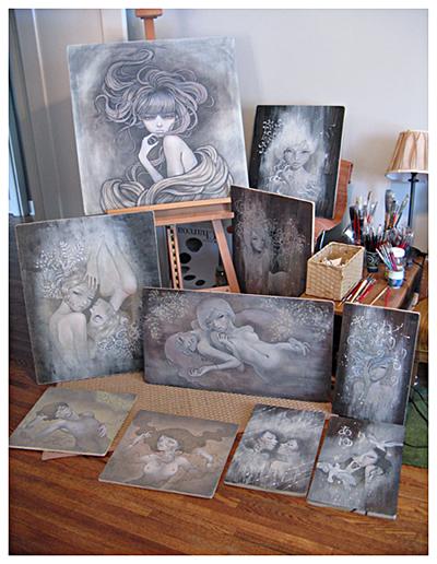 [转载]audrey kawasaki的木板画艺术